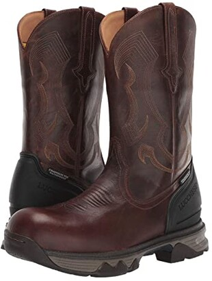 Lucchese 12 Performance Molded Pull-On - Composite Safety Toe Waterproof (Hickory) Men's Boots