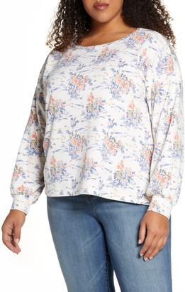 Bobeau Bishop Sleeve Pullover