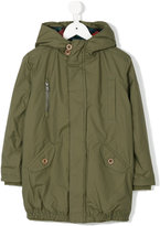 Paul Smith concealed fastening hooded coat