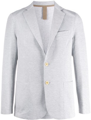 Eleventy Single-Breasted Raw-Edges Blazer