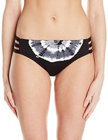 Lucky Brand Women's Half Moon Tie Dye Hipster Bikini Bottom with Strappy Sides