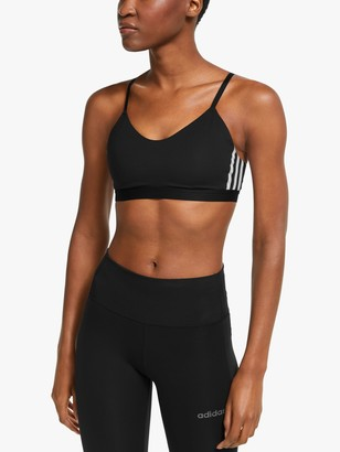 adidas All Me 3-Stripes Sports Bra, Black