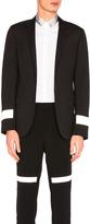 Lanvin Reflective Sleeve Blazer