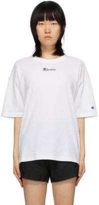 Champion Reverse Weave White Montaggio T-Shirt