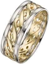 Celtic Love GOLD 9 Carat 2 Colour Gold Wedding Band 7mm