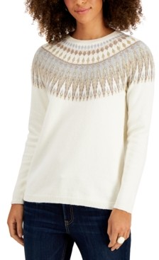 Style&Co. Style & Co Fair Isle Sweater, Created for Macy's