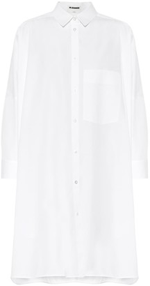 Jil Sander Oversized cotton poplin shirt dress