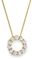 Bloomingdale's Diamond Circle Pendant Necklace in 14K Yellow Gold, 2.0 ct. t.w.