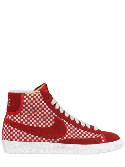 Nike Blazer Mid Woven Canvas & Suede Sneakers