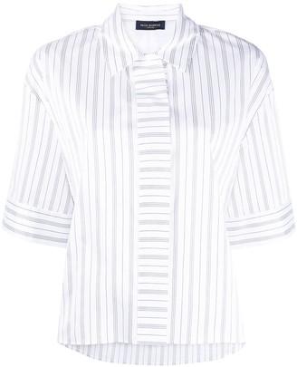 Piazza Sempione Stripe-Print Short-Sleeved Shirt