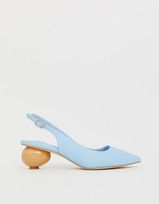 Asos Design DESIGN Sphere slingback ball heels