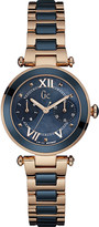 Gc Y06009L7 LadyChic rose gold-plated and stainless steel watch