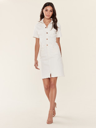 NSF Delia Short Sleeve Button Front Dress