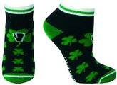 Guinness Ankle Style Socks With Green Shamrock Print
