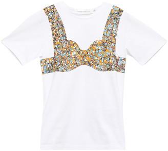 Victoria Beckham Printed Cotton-jersey T-shirt