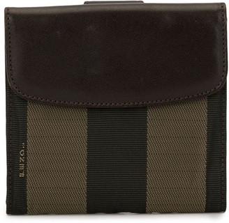 Fendi Pre Owned Pequin pattern bi-fold wallet