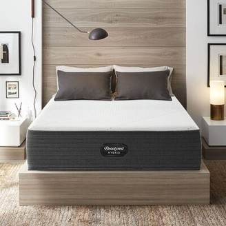 "Simmons 16"" Firm Hybrid Mattress and Box Spring Mattress Size: Twin, Box Spring Height: Low Profile (5"")"