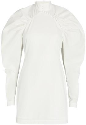 Rotate by Birger Christensen Kim Ruched Cotton Mini Dress