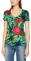 Desigual Women's TS_CARLYLE T-Shirt, Johan Green