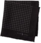 Polo Ralph Lauren Check Wool-Silk Pocket Square