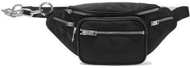 Alexander Wang Attica Leather-trimmed Shell-jacquard Belt Bag - Black