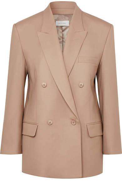 Low Classic Oversized Double-breasted Wool Blazer - Beige
