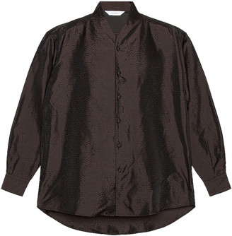 SASQUATCHfabrix. Taco Karakusa Big Wa-Neck Shirt in Black | FWRD