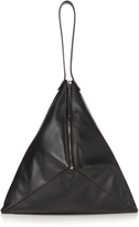 Jil Sander 5 Angle large leather and suede shoulder bag