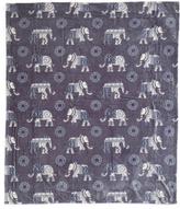 Elephant Velvet Plush Throw