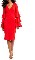 Gianni Bini Nina Midi Tiered Sleeve Dress