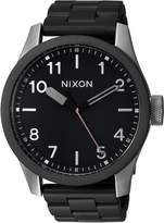 Nixon Men's 'Safari' Quartz Stainless Steel Casual Watch, Color:Black (Model: A9742541-00)