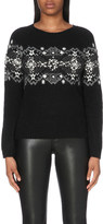 Claudie Pierlot Meribel Fair Isle knitted jumper