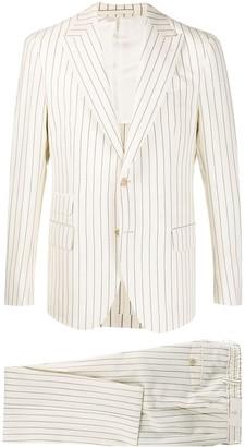 Eleventy Linen-Blend Striped Suit