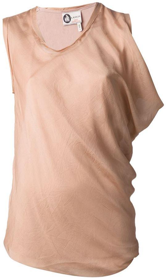 Lanvin asymmetric draped top