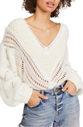 Free People Snowball Open Stitch Sweater