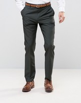 Reiss Slim Smart Pants With Turn-Up