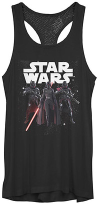 Fifth Sun Women's Tank Tops BLACK - Star Wars: Jedi Fallen Order Black Big Three Mesh Racerback Tank - Women, Juniors & Plus
