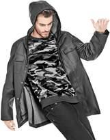 GUESS Men's Fitz Hooded Raincoat