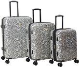 Isaac Mizrahi Live! 3-Pc Grey Hardside Spinner Luggage Set - Gabby