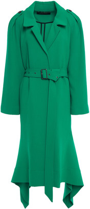 Roland Mouret Pullman Asymmetric Belted Wool-crepe Coat
