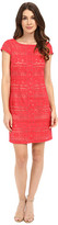 Laundry by Shelli Segal Texcoco Embroidered T-Body Dress with Lace Detail