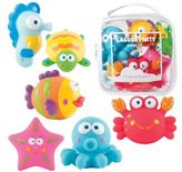 Elegant Baby Six-Piece Lagoon Party Squirties Bath Toys