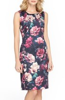 Tahari Floral Scuba Sheath Dress (Regular & Petite)