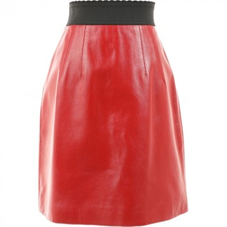 Dolce & Gabbana \N Red Leather Skirts