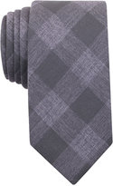 Bar III Men's Olive Gingham Tie, Only at Macy's