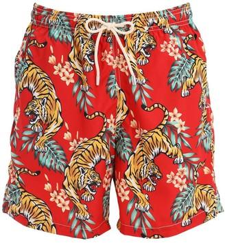 MC2 Saint Barth Tropical Tiger Micro Fiber Swim Shorts