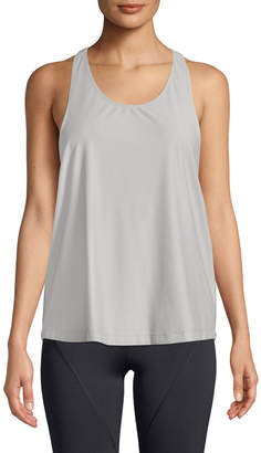 Cushnie Logo T-Back Scoop-Neck Active Tank