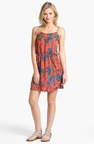 Collective Concepts Print Gathered Slip Dress