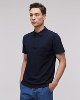 Indigo Pique Short Sleeve Polo Shirt