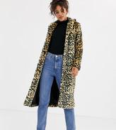 Brave Soul Tall arctic long length faux fur coat